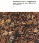 Cover of: Assessing student characteristics in admissions to higher education