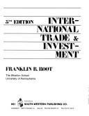 Cover of: International trade and investment