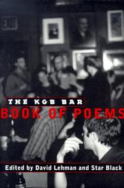 Cover of: The KGB Bar Book Of Poems
