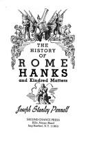 Cover of: history of Rome Hanks and kindred matters. | Joseph Stanley Pennell