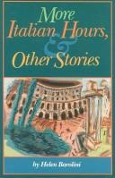 Cover of: More Italian hours, and other stories | Helen Barolini