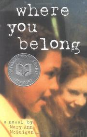 Cover of: Where you belong | Mary Ann McGuigan