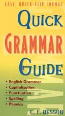 Cover of: Quick grammer guide | C. F. Besson