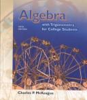 Cover of: Algebra with trigonometry for college students