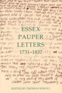 Cover of: Essex pauper letters, 1731-1837 |