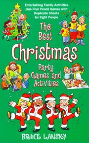 Cover of: Best Christmas Party Game Book, The