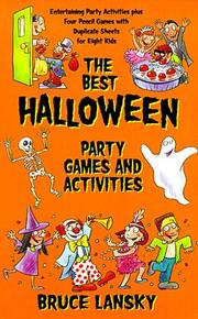 Cover of: Best Halloween Party Game Book, The