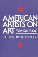 Cover of: American artists on art from 1940 to 1980 |