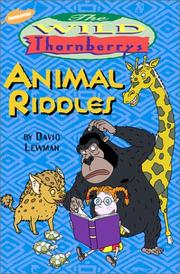 Cover of: The Wild Thornberrys animal riddles