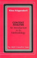 Cover of: Content Analysis