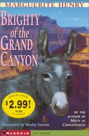 Cover of: Brighty Of The Grand Canyon- Kidspicks 2001