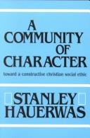 Cover of: A community of character