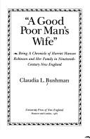 "Cover of: ""A good poor man's wife"""