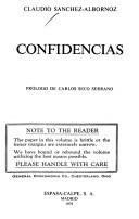 Cover of: Confidencias