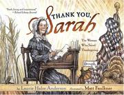 Cover of: Thank You, Sarah: The Woman Who Saved Thanksgiving