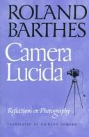 Cover of: Camera Lucida: Reflections on Photography