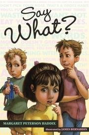 Cover of: Say What?