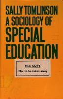 Cover of: A sociology of special education