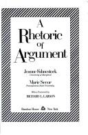 Cover of: A rhetoric of argument