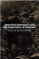 Cover of: American Literature and the Experience of Vietnam