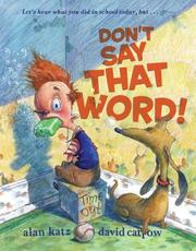 Cover of: Don't Say That Word!