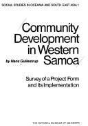 Cover of: Community development in Western Samoa