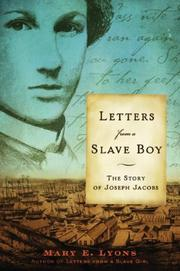 Cover of: Letters from a slave boy : the story of Joseph Jacobs