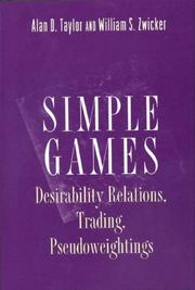 Cover of: Simple games | Alan D. Taylor