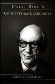 Cover of: Concepts and Categories | Isaiah Berlin