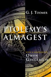 Cover of: Ptolemy's Almagest