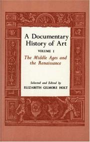 Cover of: A Documentary History of Art, Vol. 1