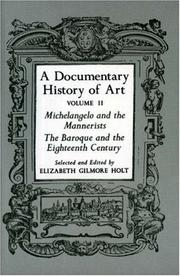 Cover of: A Documentary History of Art, Vol. 2