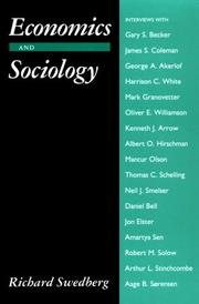 Economics and Sociology: Redefining Their Boundaries: Conversations with Economists and Sociologists