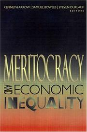 Cover of: Meritocracy and Economic Inequality |