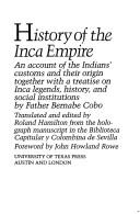 Cover of: History of the Inca Empire