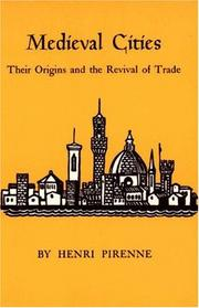 Medieval cities by Pirenne, Henri