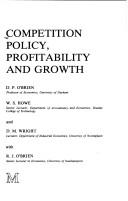 Cover of: Competition policy, profitability, and growth |