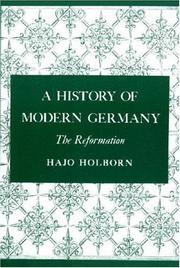 A History of Modern Germany by Hajo Holborn