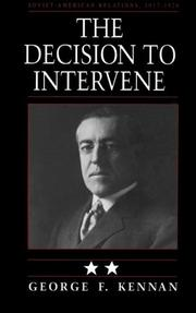 Cover of: The Decision to Intervene