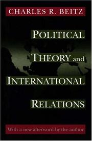Cover of: Political theory and international relations