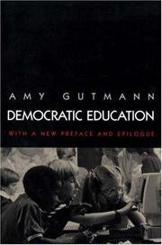Cover of: Democratic Education