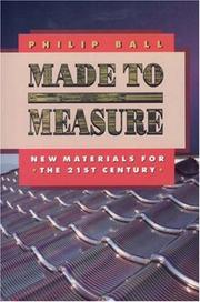 Cover of: Made to Measure | Philip Ball