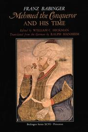 Cover of: Mehmed the Conqueror and His Time