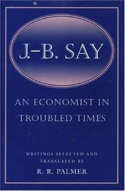 Cover of: An economist in troubled times: writings