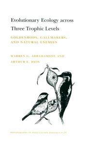 Cover of: Evolutionary ecology across three trophic levels