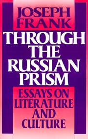 Cover of: Through the Russian prism | Frank, Joseph