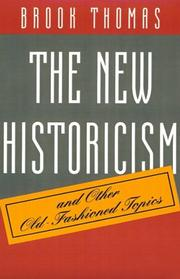 Cover of: The new historicism