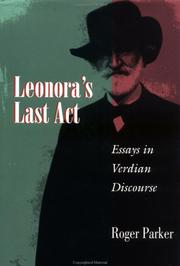Cover of: Leonora's last act
