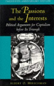 Cover of: The passions and the interests
