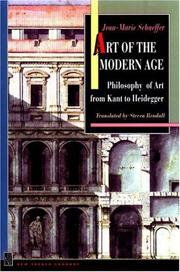 Cover of: Art of the modern age
